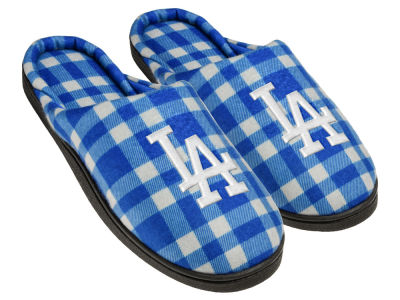 Los Angeles Dodgers Flannel Cup Sole Slippers Boxed