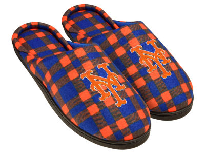 New York Mets Flannel Cup Sole Slippers Boxed