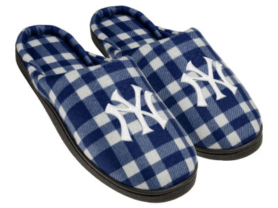 New York Yankees Flannel Cup Sole Slippers Boxed