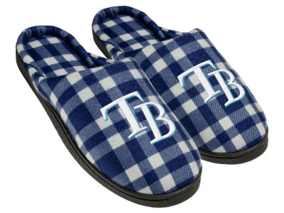 Tampa Bay Rays Flannel Cup Sole Slippers Boxed