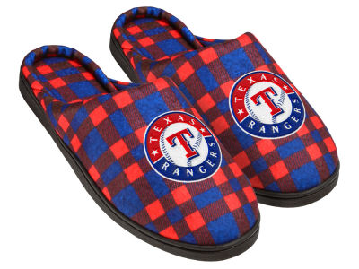 Texas Rangers Flannel Cup Sole Slippers Boxed