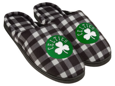 Boston Celtics Flannel Cup Sole Slippers Boxed