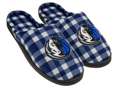 Dallas Mavericks Flannel Cup Sole Slippers Boxed
