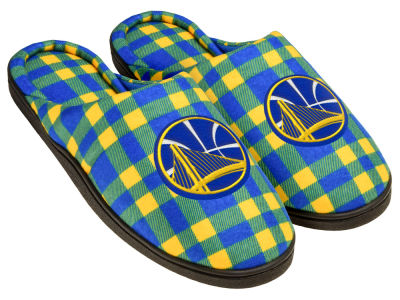 Golden State Warriors Flannel Cup Sole Slippers Boxed