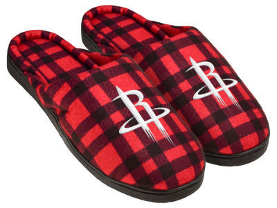Houston Rockets Flannel Cup Sole Slippers Boxed