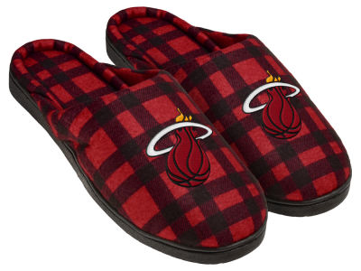 Miami Heat Flannel Cup Sole Slippers Boxed