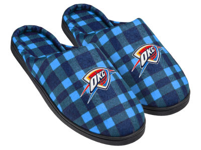 Oklahoma City Thunder Flannel Cup Sole Slippers Boxed