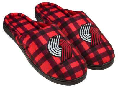 Portland Trail Blazers Flannel Cup Sole Slippers Boxed