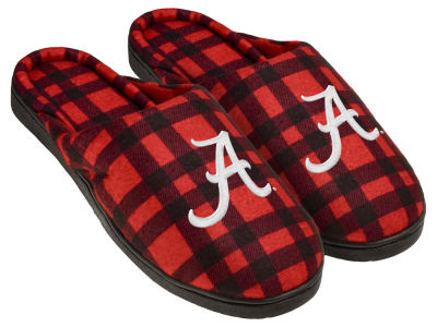 Alabama Crimson Tide Flannel Cup Sole Slippers Boxed