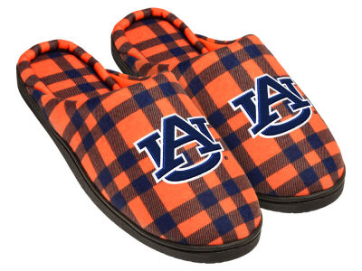 Auburn Tigers Flannel Cup Sole Slippers Boxed