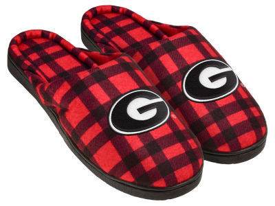 Georgia Bulldogs Flannel Cup Sole Slippers Boxed