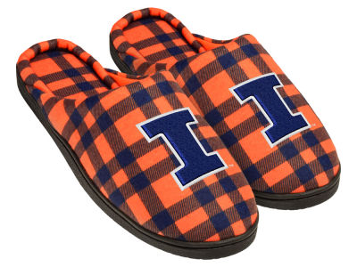 Illinois Fighting Illini Flannel Cup Sole Slippers Boxed