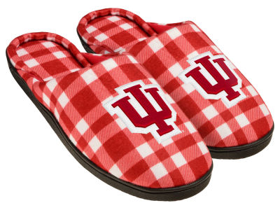 Indiana Hoosiers Flannel Cup Sole Slippers Boxed