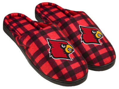 Louisville Cardinals Flannel Cup Sole Slippers Boxed