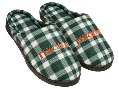 Miami Hurricanes Flannel Cup Sole Slippers Boxed