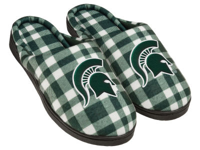 Michigan State Spartans Flannel Cup Sole Slippers Boxed