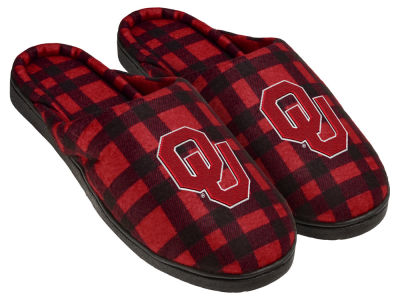 Oklahoma Sooners Flannel Cup Sole Slippers Boxed