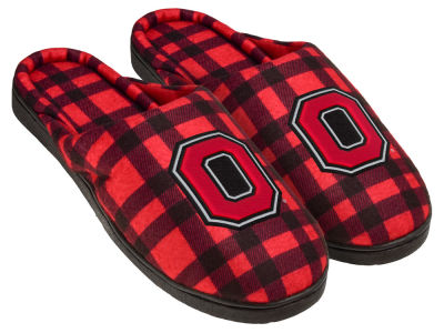 Ohio State Buckeyes Flannel Cup Sole Slippers Boxed