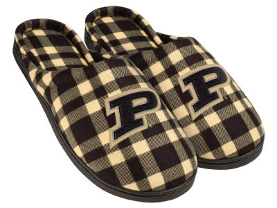 Purdue Boilermakers Flannel Cup Sole Slippers Boxed