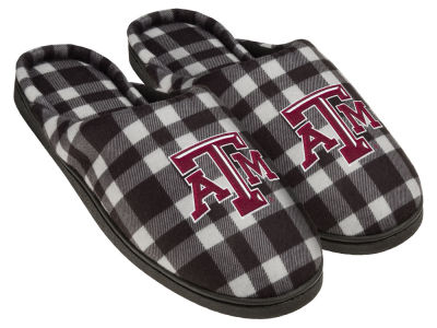 Texas A&M Aggies Flannel Cup Sole Slippers Boxed