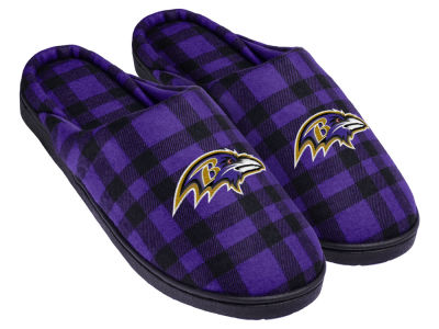 Baltimore Ravens Flannel Cup Sole Slippers Boxed