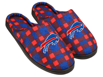 Buffalo Bills Flannel Cup Sole Slippers Boxed