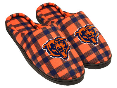 Chicago Bears Flannel Cup Sole Slippers Boxed