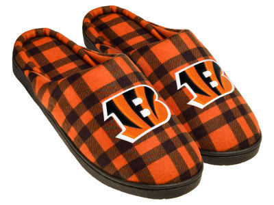 Cincinnati Bengals Flannel Cup Sole Slippers Boxed