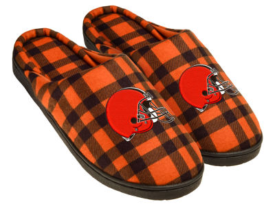 Cleveland Browns Flannel Cup Sole Slippers Boxed