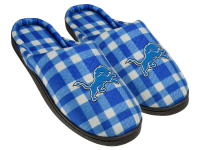 Detroit Lions Flannel Cup Sole Slippers Boxed