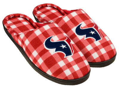 Houston Texans Flannel Cup Sole Slippers Boxed