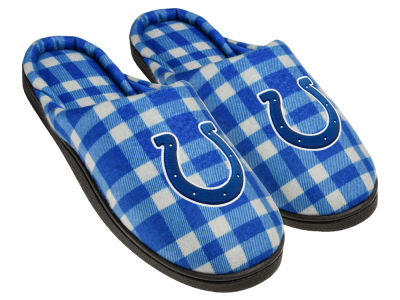 Indianapolis Colts Flannel Cup Sole Slippers Boxed