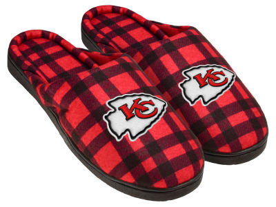 Kansas City Chiefs Flannel Cup Sole Slippers Boxed