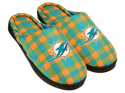 Miami Dolphins Flannel Cup Sole Slippers Boxed