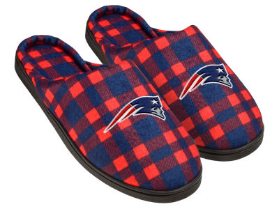 New England Patriots Flannel Cup Sole Slippers Boxed
