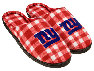 New York Giants Flannel Cup Sole Slippers Boxed
