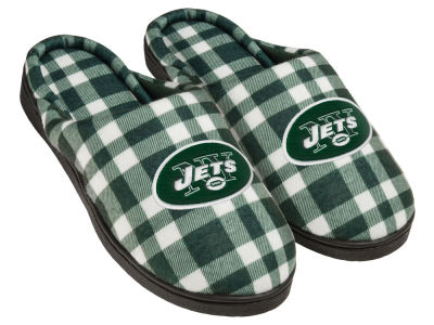 New York Jets Flannel Cup Sole Slippers Boxed