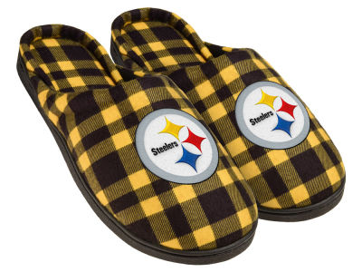 Pittsburgh Steelers Flannel Cup Sole Slippers Boxed