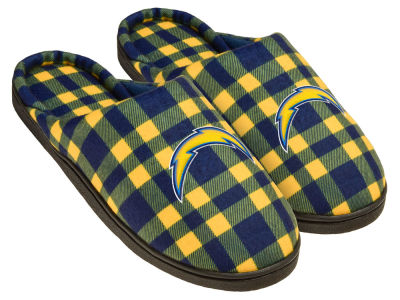 San Diego Chargers Flannel Cup Sole Slippers Boxed