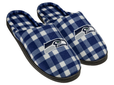 Seattle Seahawks Flannel Cup Sole Slippers Boxed
