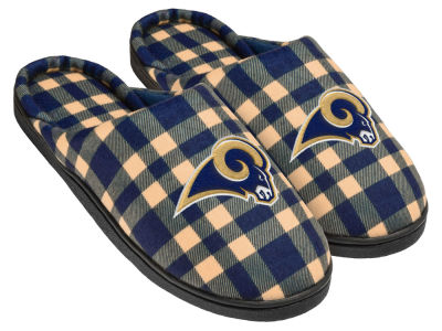 Los Angeles Rams Flannel Cup Sole Slippers Boxed