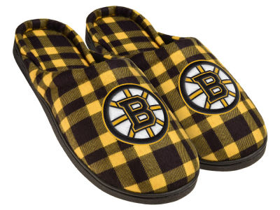 Boston Bruins Flannel Cup Sole Slippers Boxed