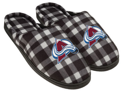 Colorado Avalanche Flannel Cup Sole Slippers Boxed
