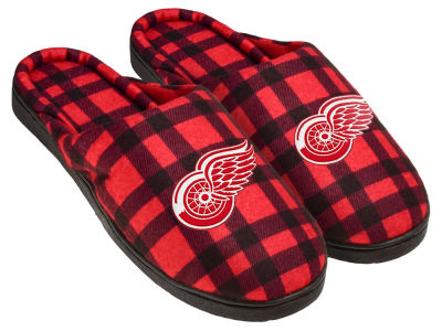 Detroit Red Wings Flannel Cup Sole Slippers Boxed
