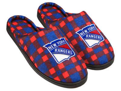 New York Rangers Flannel Cup Sole Slippers Boxed
