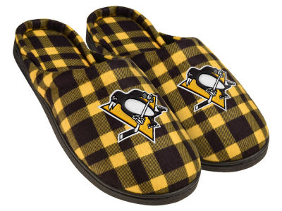 Pittsburgh Penguins Flannel Cup Sole Slippers Boxed