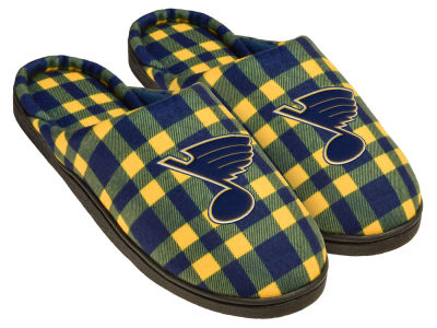 St. Louis Blues Flannel Cup Sole Slippers Boxed
