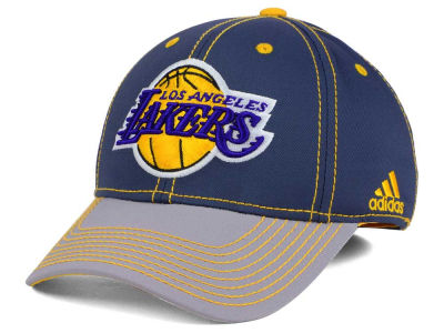 Los Angeles Lakers adidas NBA Volcano Ash Flex Cap