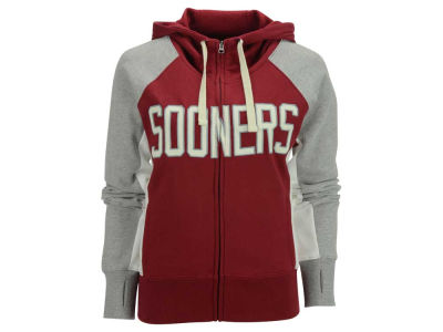 Oklahoma Sooners GIII NCAA Women's Down The Field Hooded Sweatshirt