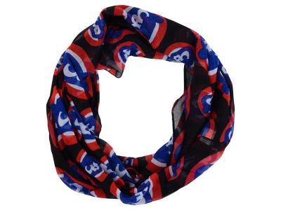 Chicago Cubs All Over Logo Infinity Wrap Scarf
